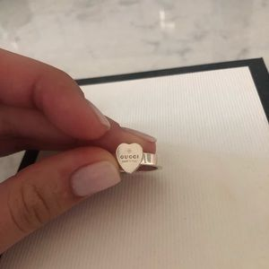 Gucci Jewelry - Heart ring with Gucci Trademark